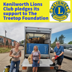 Kenilworth Lions pledges support for the Treetop Foundation